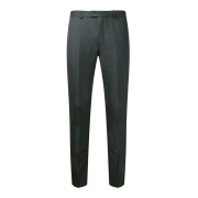 Flat Front Slim Fit Charcoal Trouser Senior